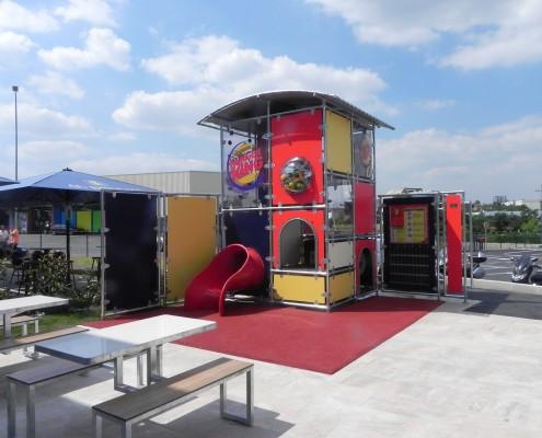 Montaje Zona de Juego Infantil Burger King Paris