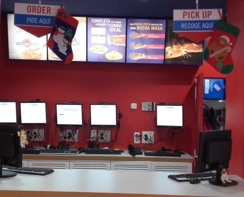 Instalación Suministros y Sistema Informático Domino's Pizza Juan Bravo