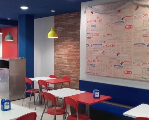 Construcción y Acondicionamiento Domino's Pizza Juan Bravo