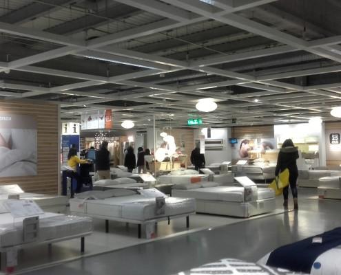 Instalación Sistema de Iluminación de Tienda IKEA