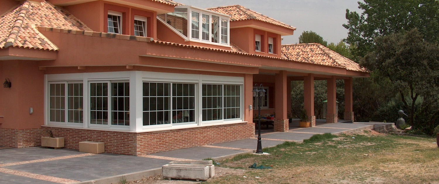 Construction of new house in La Moraleja