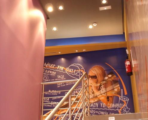 Diseño y Decoración Restaurante Taco Bell